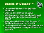 basics of dosage