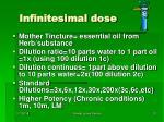 infinitesimal dose