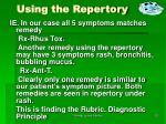 using the repertory
