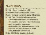 ncp history