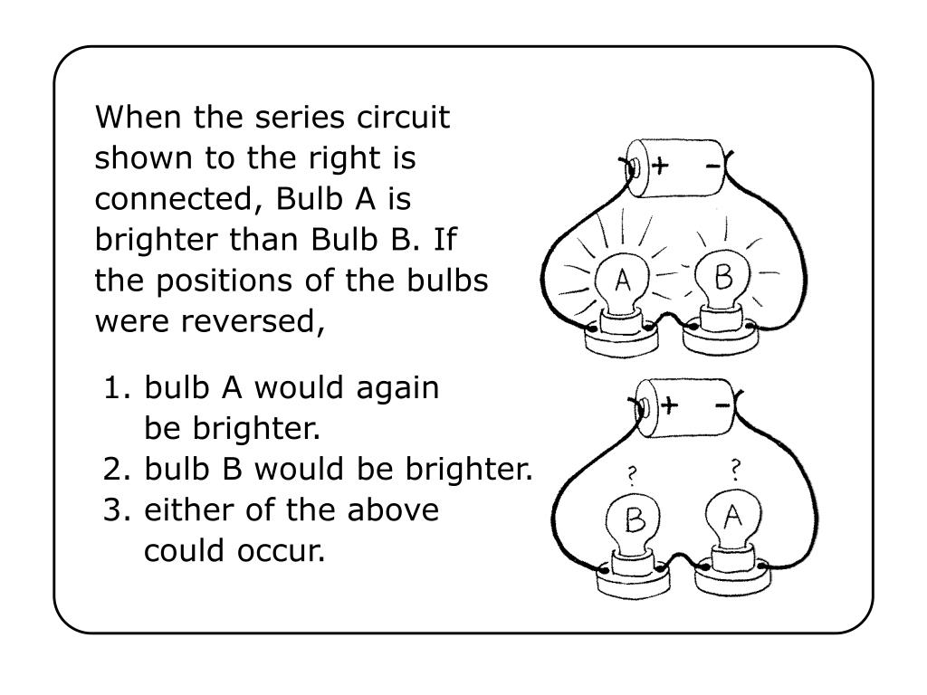 Ppt When The Series Circuit Shown To Right Is Connected Bulb Same Can Still Be Working A Brighter Than B If Positions Of Bulbs W Powerpoint Presentation Id
