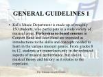 general guidelines 1