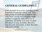 general guidelines 2