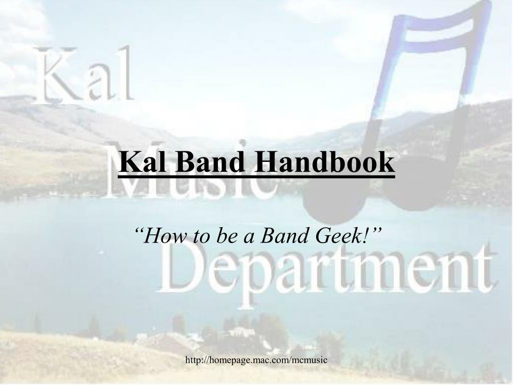kal band handbook l.