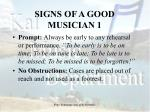 signs of a good musician 1