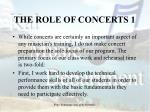 the role of concerts 1