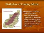 birthplace of country music