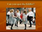 can you spot the fiddler
