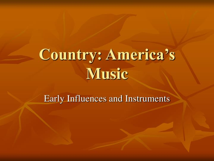 Country america s music