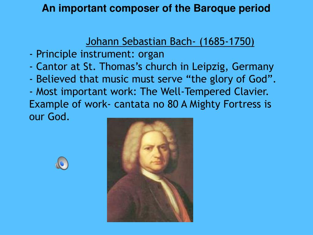An important composer of the Baroque period