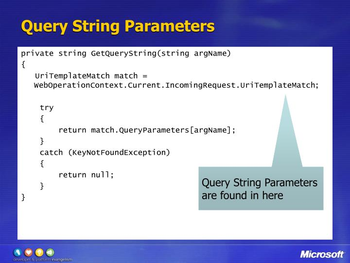 Query String Parameters