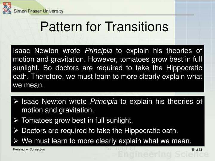Pattern for Transitions