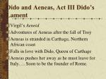 dido and aeneas act iii dido s lament