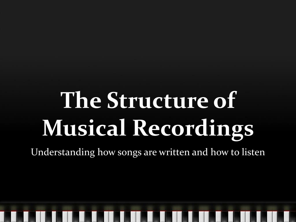 the structure of musical recordings l.