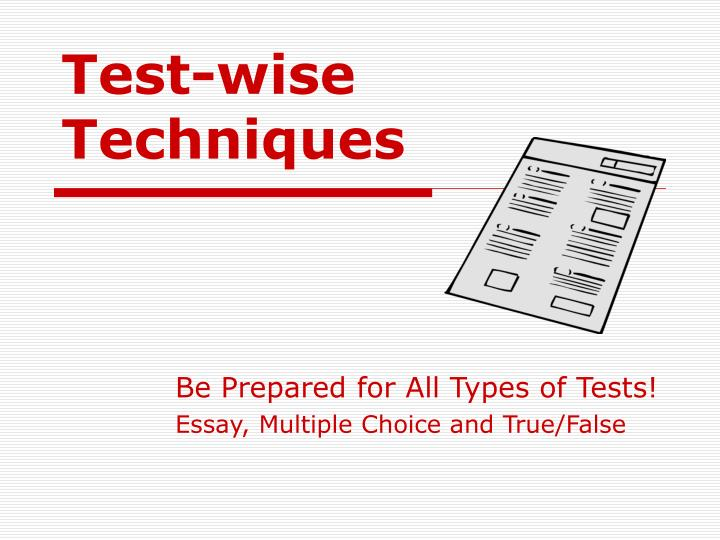 test wise techniques n.