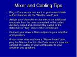 mixer and cabling tips24