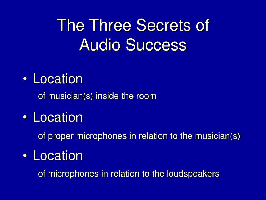 The Three Secrets of