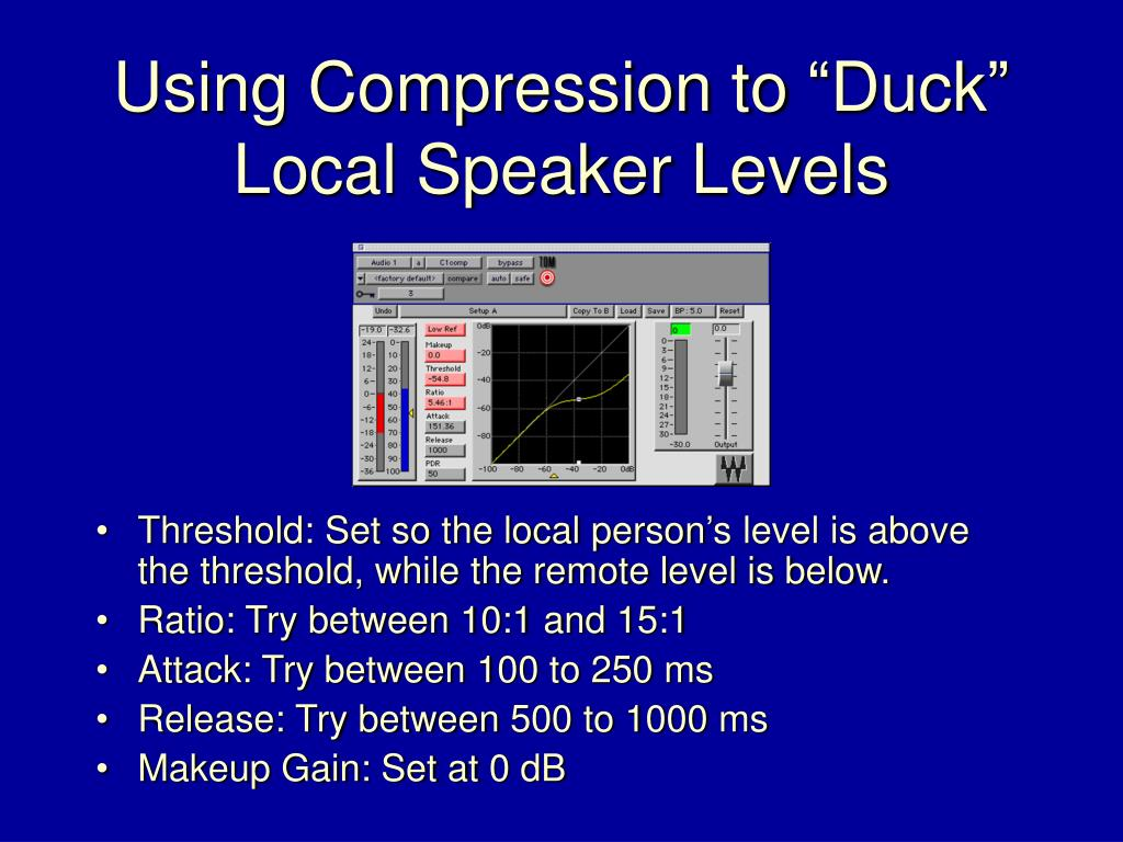 """Using Compression to """"Duck"""""""