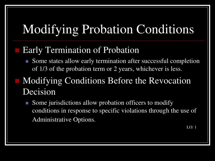Modifying probation conditions