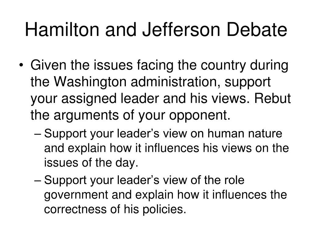 Hamilton and Jefferson Debate