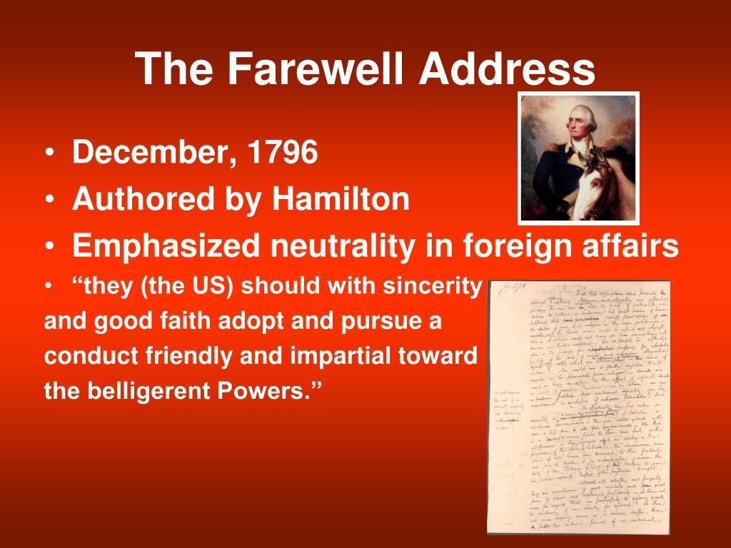 The Farewell Address