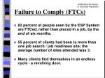 failure to comply ftcs