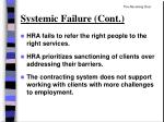 systemic failure cont