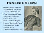 franz liszt 1811 1886
