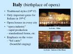 italy birthplace of opera