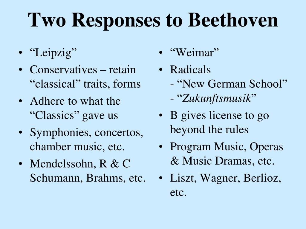 two responses to beethoven l.
