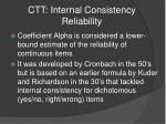 ctt internal consistency reliability6