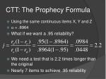 ctt the prophecy formula1