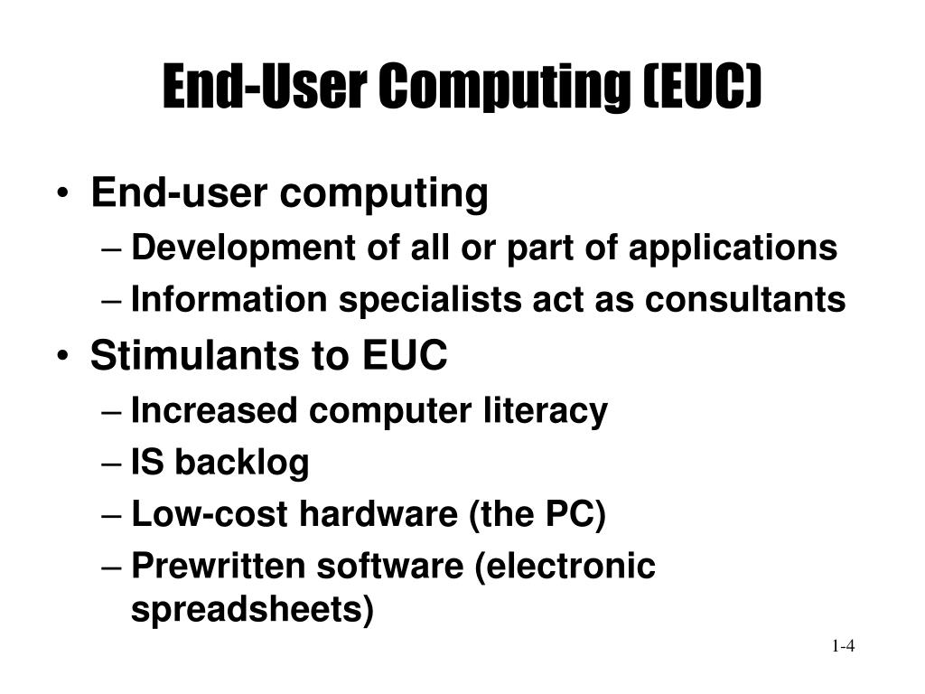 End-User Computing (EUC)