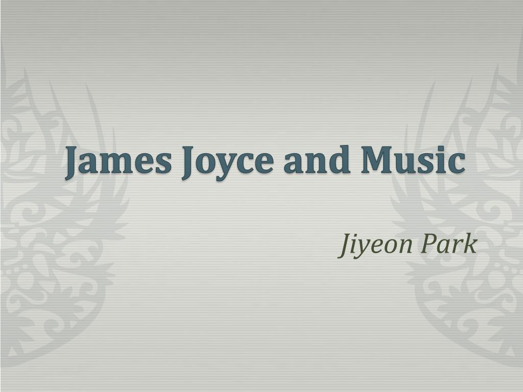 james joyce and music l.