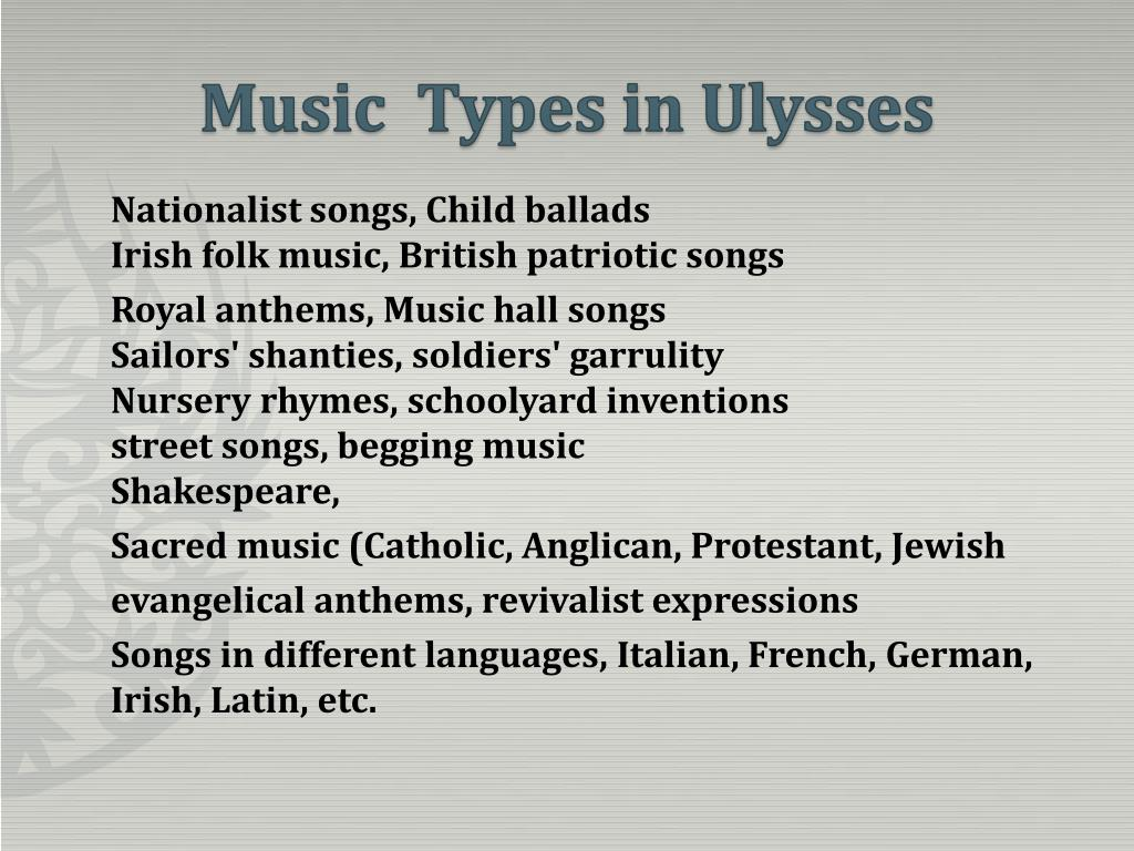 PPT - James Joyce and Music PowerPoint Presentation - ID:50483