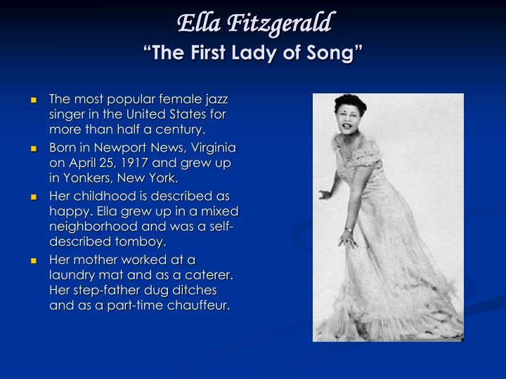 Ella fitzgerald the first lady of song