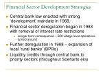 financial sector development strategies