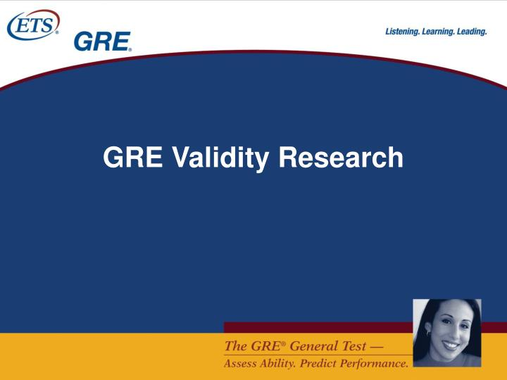 GRE Validity Research