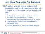 how essay responses are evaluated