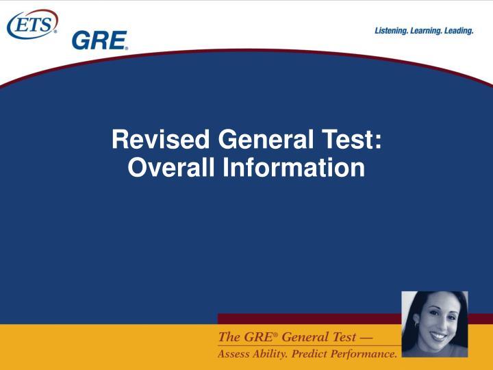 Revised General Test: