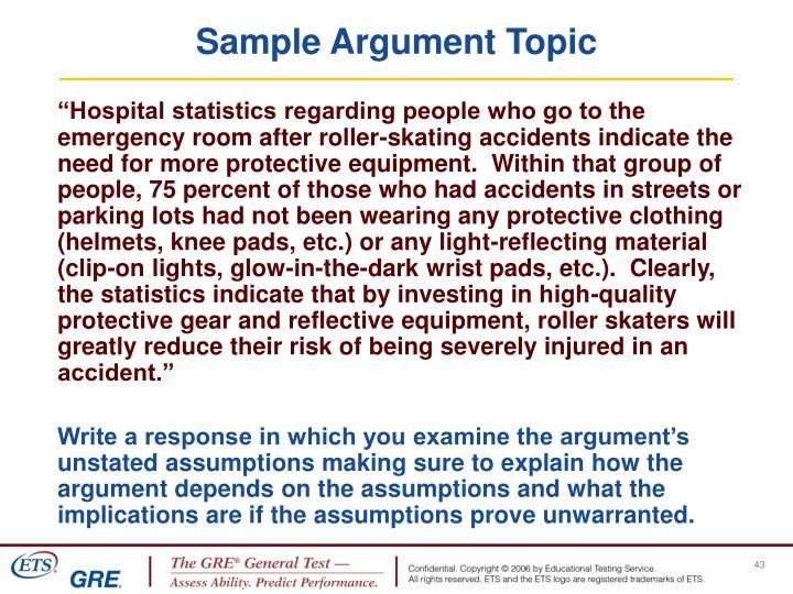 Sample Argument Topic