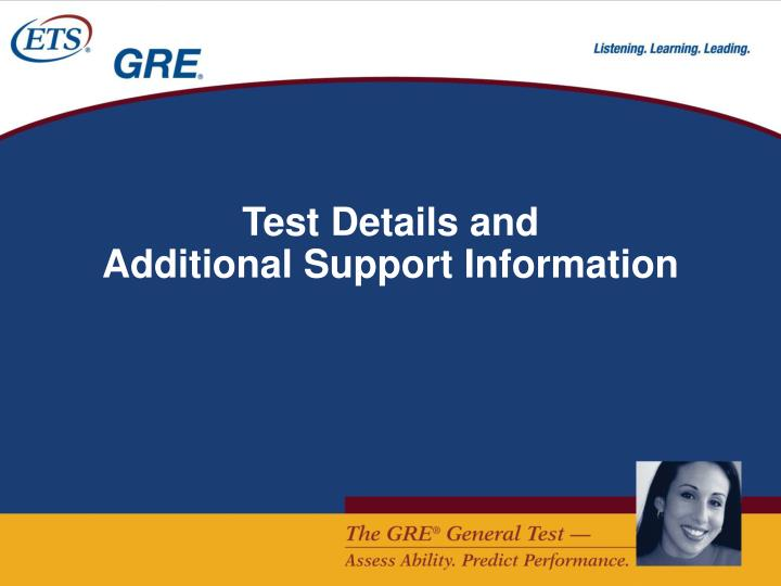 Test Details and