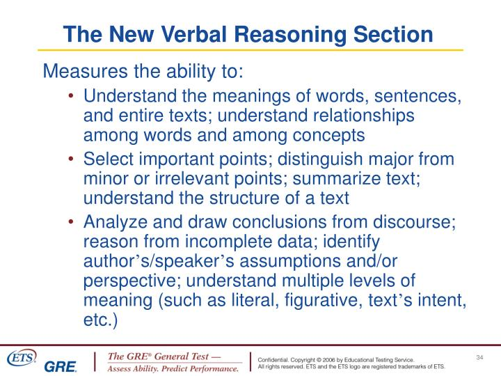 The New Verbal Reasoning Section