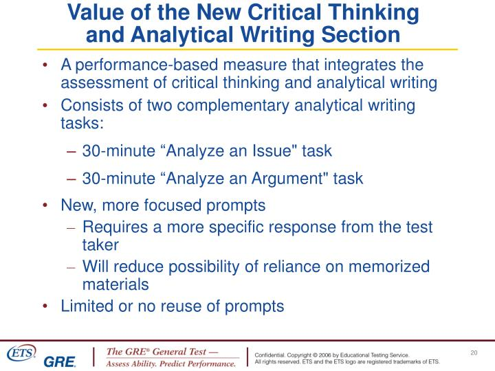 A performance-based measure that integrates the assessment of critical thinking and analytical writing