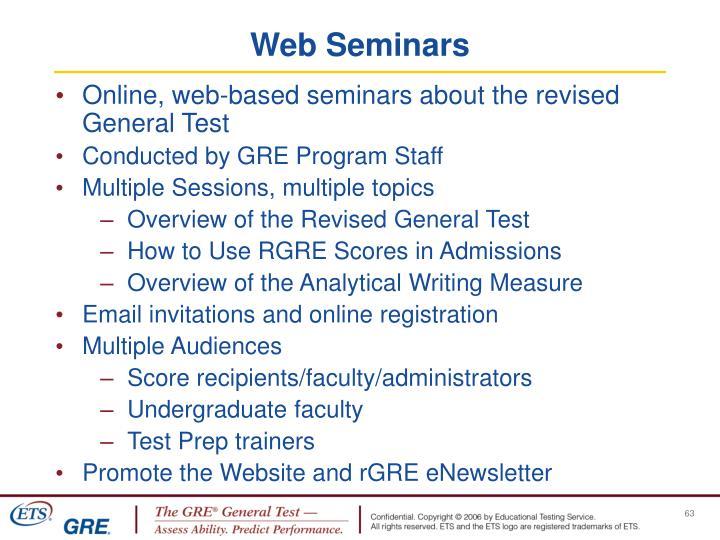 Web Seminars