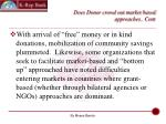 does donor crowd out market based approaches cont