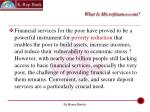 what is microfinance cont4