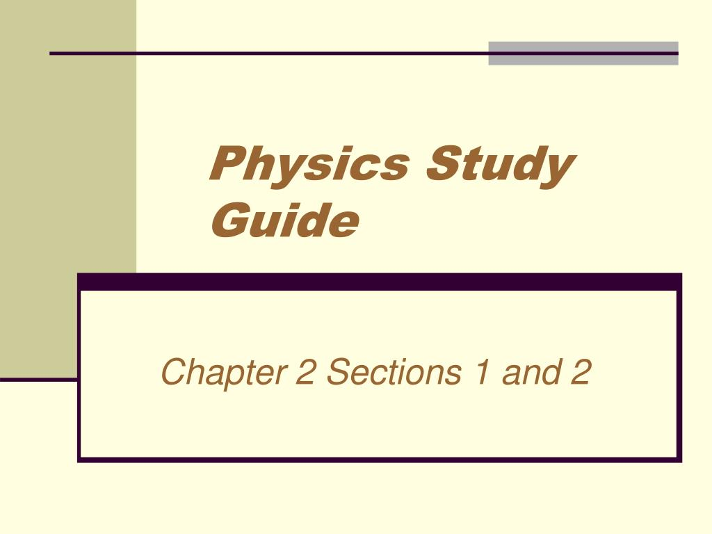 physics study guide l.