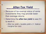 after tax yield