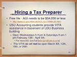 hiring a tax preparer29